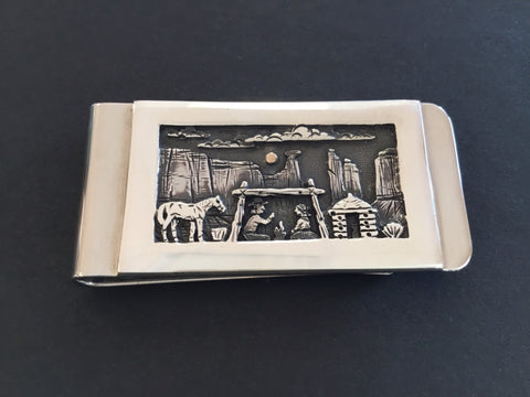 Storyteller Scene  Money Clip, by Cody Hunter