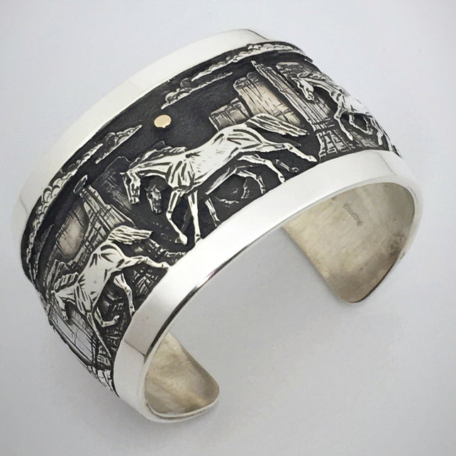 Navajo Horse Bracelet, by Cody Hunter