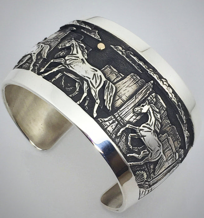 Canyon Horses Wide Cuff Bracelet, by Cody Hunter