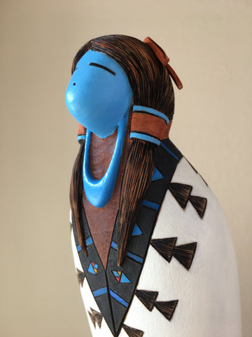 Kachina Girl Zuni Sculpture, by Gregg Lasiloo