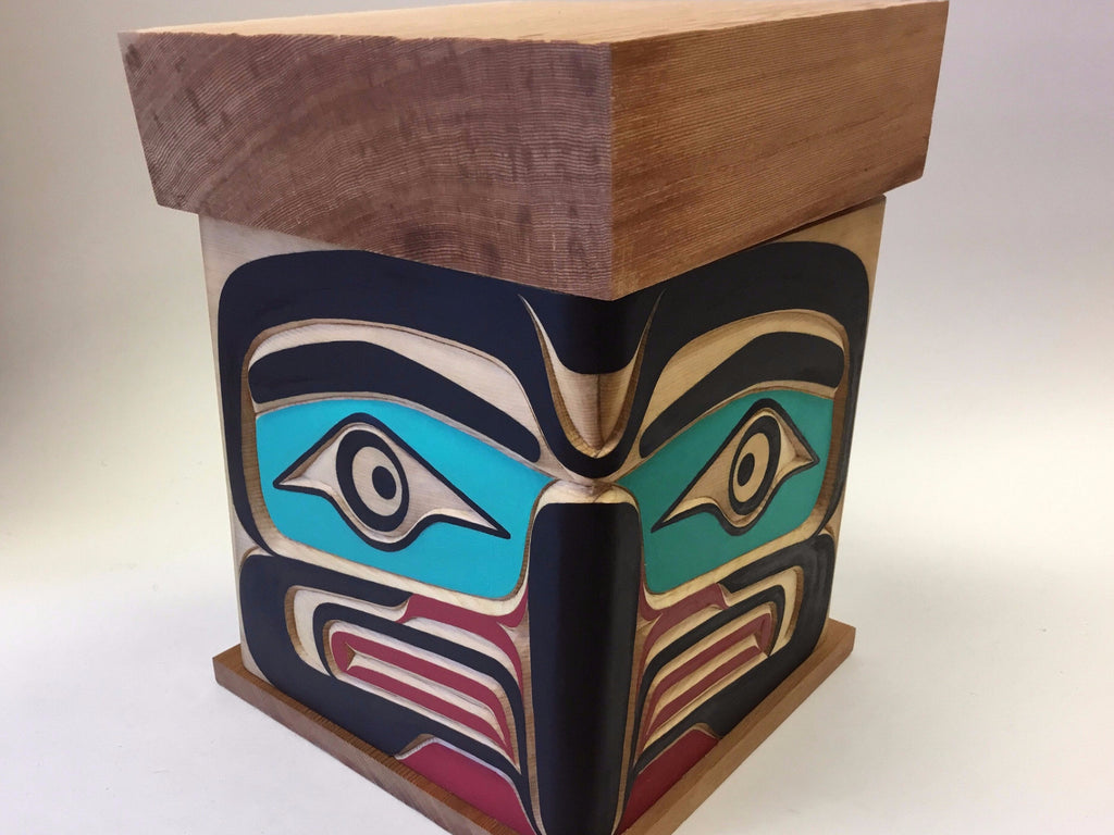 Eagle and Raven Bentwood Box, by Bruce Alfred