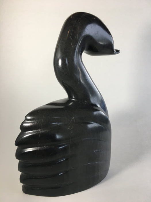 Elegant Inuit Bird Carving, by Isaac Eyaituk