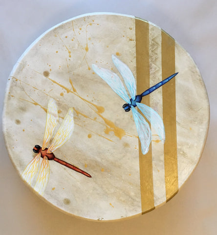 Taos Made, Zuni Painted Deer Hide Drum, by Kandis Quam