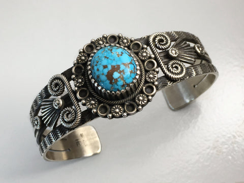 Candelaria Gem and Silver Bracelet, by Ivan Howard