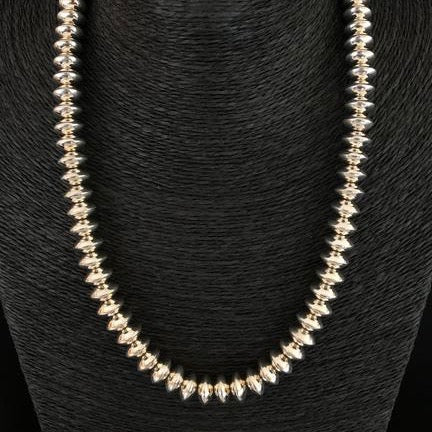 Sterling Silver Rondelle Navajo Pearls, by Mary Tom