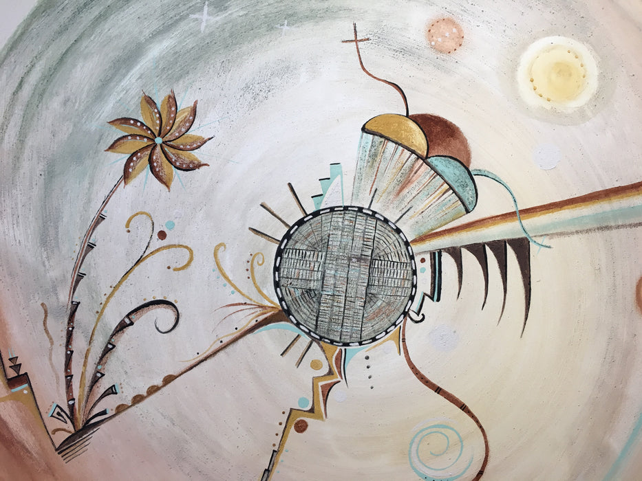 "Yungyapu ""The Beginning""  Hopi Painting, by Donna Humetewa Kaye (Pesavensi)"