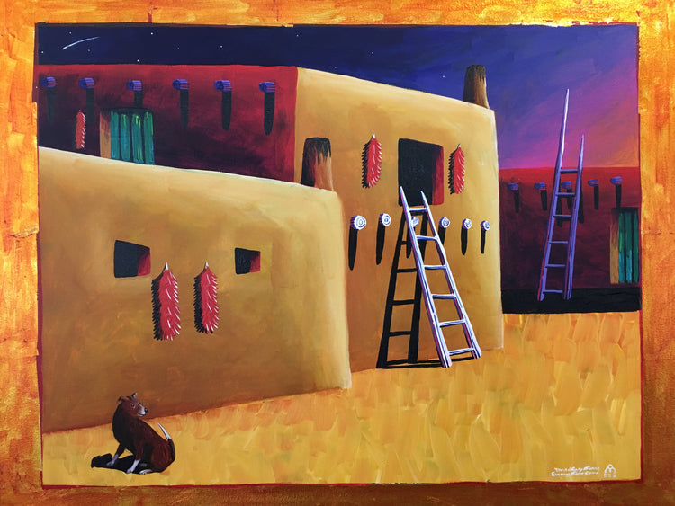 Taos Dog, by David Gary Suazo