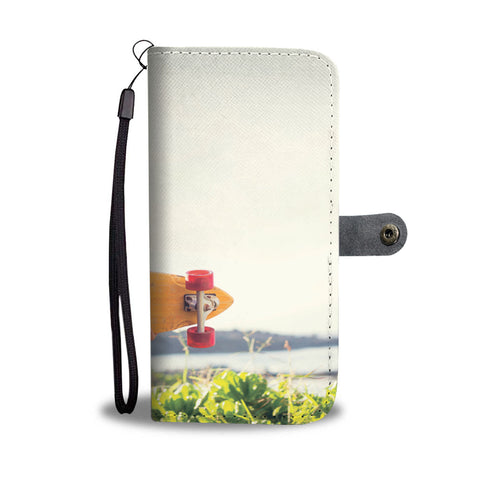 SKATER GIRL WALLET PHONE CASE A BABY FIXES EVERYTHING