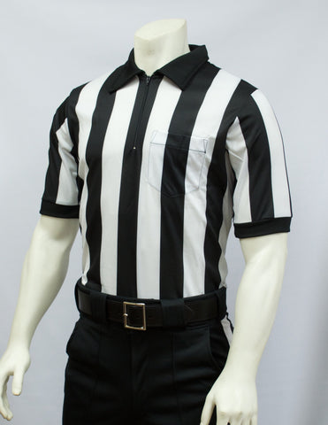"FBS117M-Smitty Mesh Football Short Sleeve Shirt w/ 2"" Stripes"