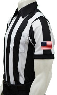 USA137-Smitty Football Short Sleeve Shirt w/ Flag on Sleeve