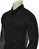 USA313-Long Sleeve MLB Style Black w/ Grey Side Panel