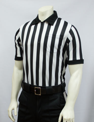 "FBS100-Smitty Performance Mesh Football Short Sleeve Shirt 1"" Stripe"