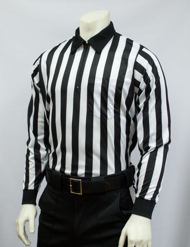 "FBS113-Smitty Heavyweight Football Long Sleeve Shirt w/ 1"" Stripes"