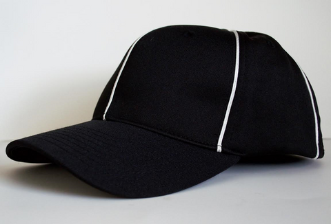 HT100-Black Hat w/ White Piping