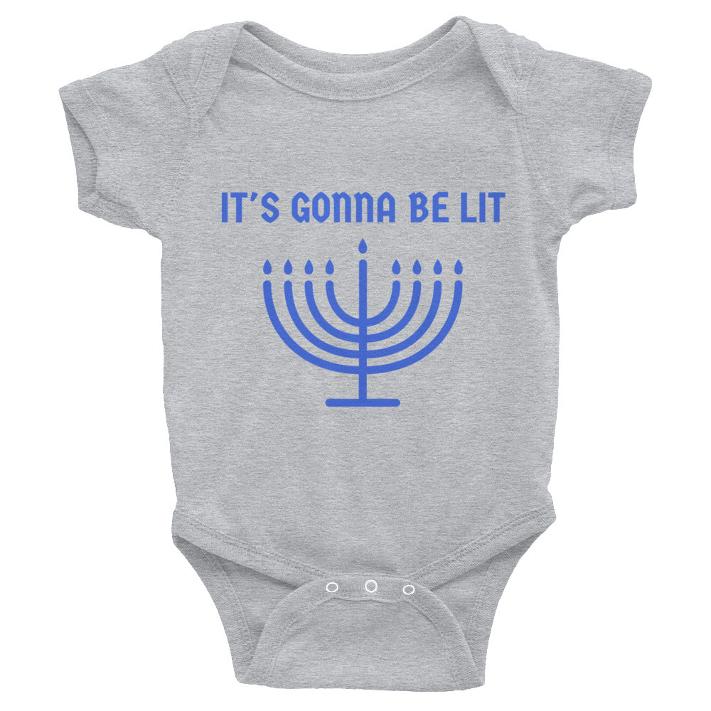 """It's Gonna Be Lit"" Menorah Onesie"