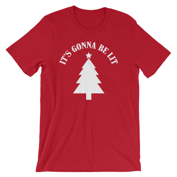 """It's Gonna Be Lit"" Christmas Tree T-shirt (Unisex)"