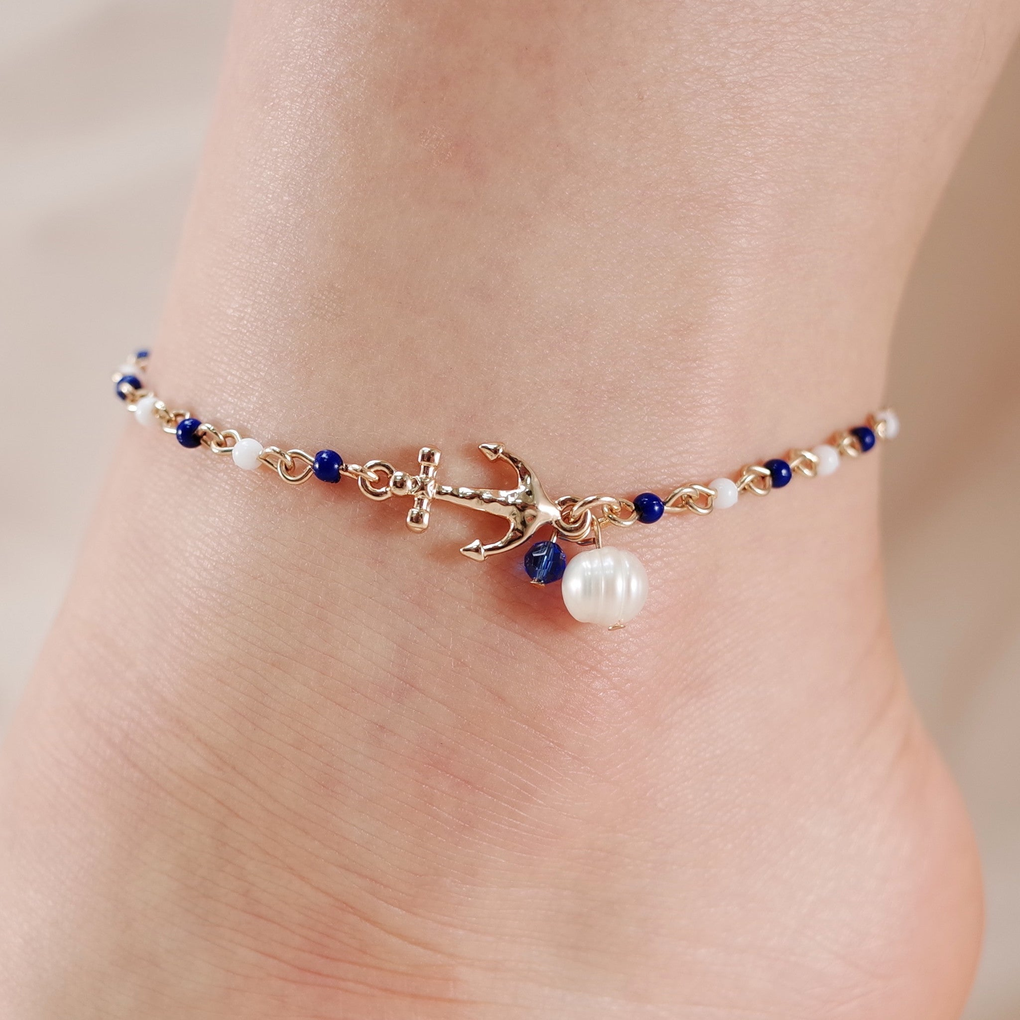 blue round bracelets product designs anklet laamb beach cool ankle