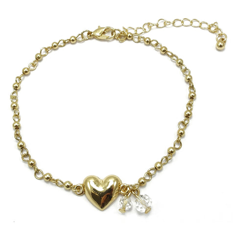 Heart Chain Link Anklet