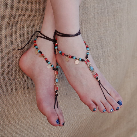 Bohemian Style Barefoot Sandals Anklet