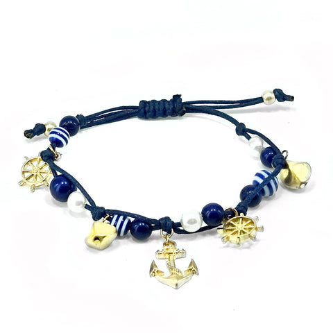 Nautical Beach Theme Adjustable Anklet