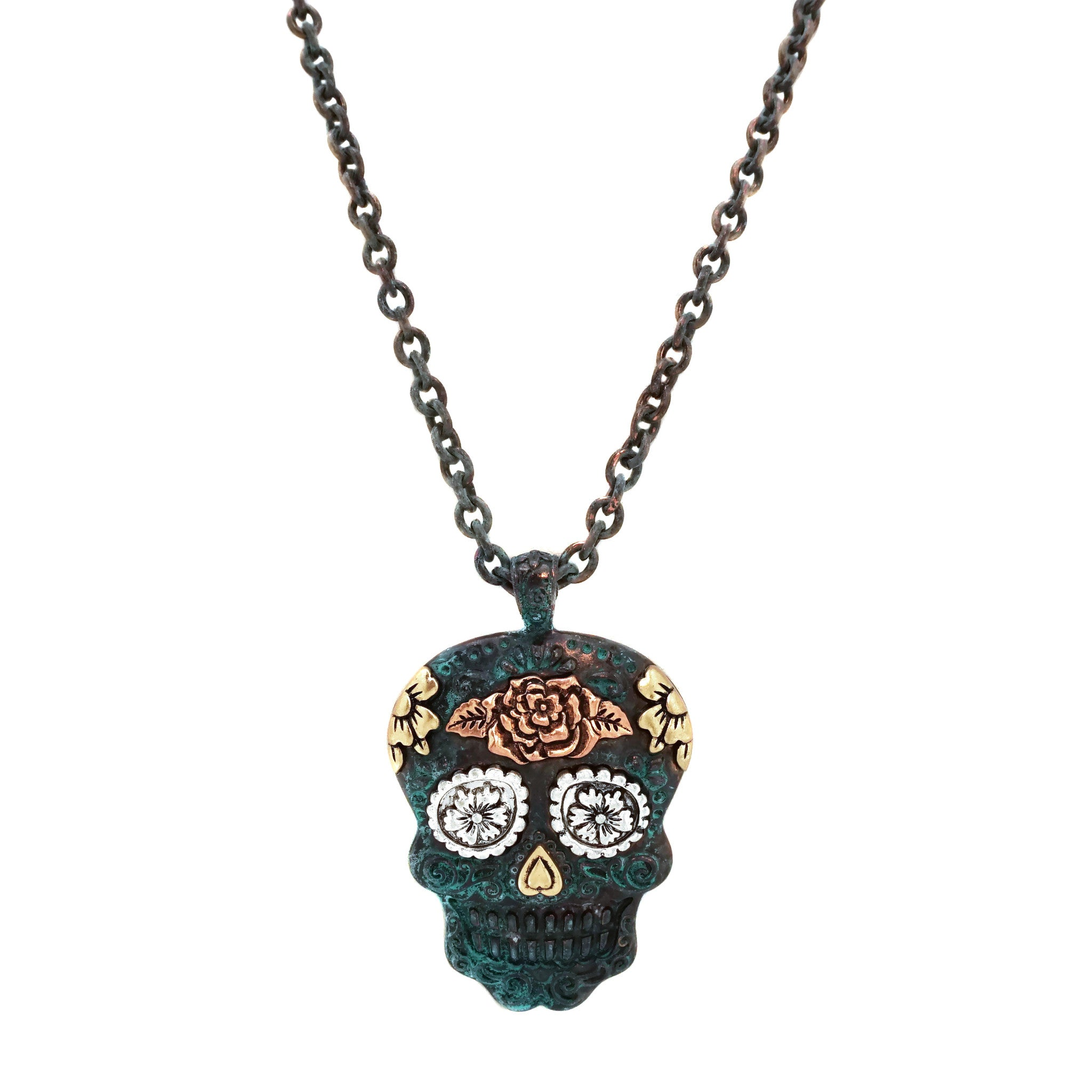extension skull long elosee pendant necklace chunky products sugar