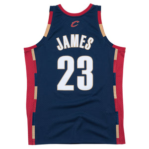 NBA Cleveland Cavaliers LeBron James Mitchell & Ness Retro Swingman Jersey - Navy - Just Sports