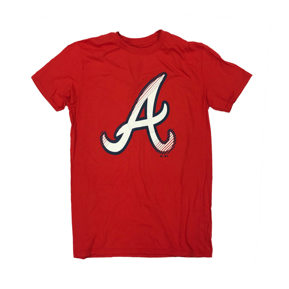 MLB Atlanta Braves Majestic Slash & Dash Tee - Red