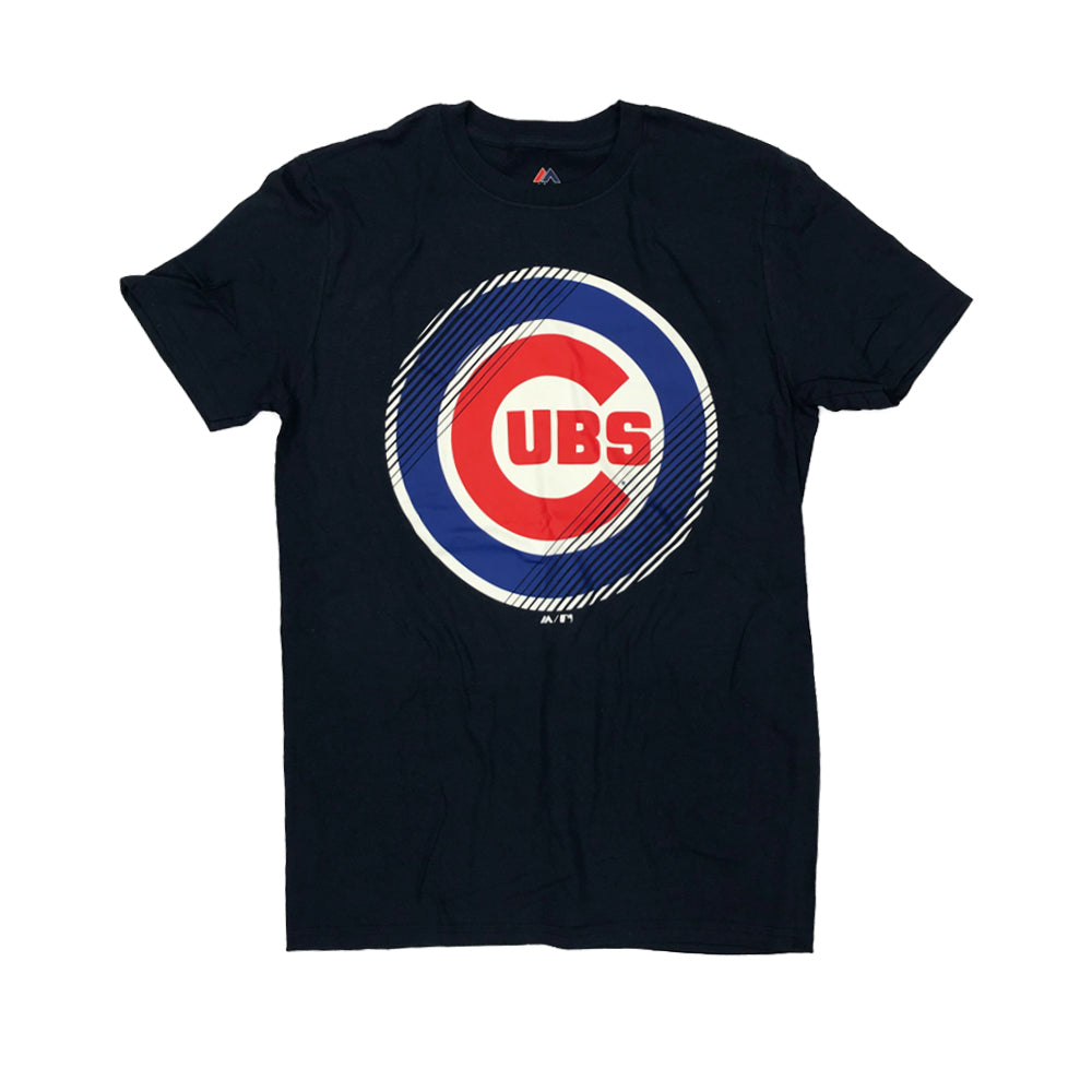 MLB Chicago Cubs Majestic Slash & Dash Tee - Navy