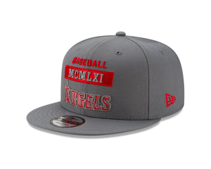 MLB Los Angeles Angels New Era Stack 9FIFTY - Gray - Just Sports