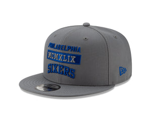 NBA Philadelphia 76ers New Era Stack 9FIFTY - Gray - Just Sports