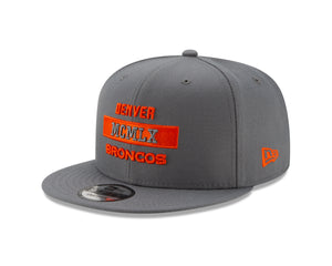 NFL Denver Broncos New Era Stack 9FIFTY - Gray - Just Sports