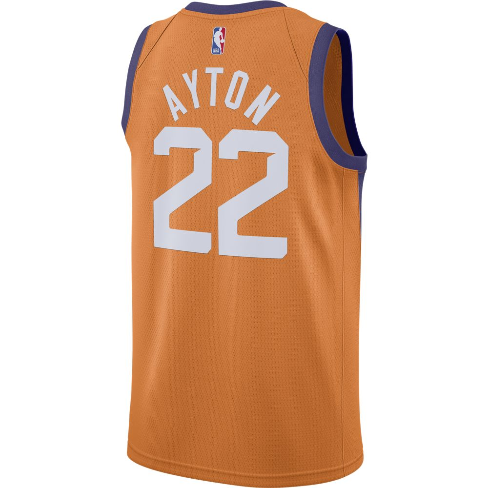 NBA Phoenix Suns Deandre Ayton Nike Statement Swingman Jersey - Orange