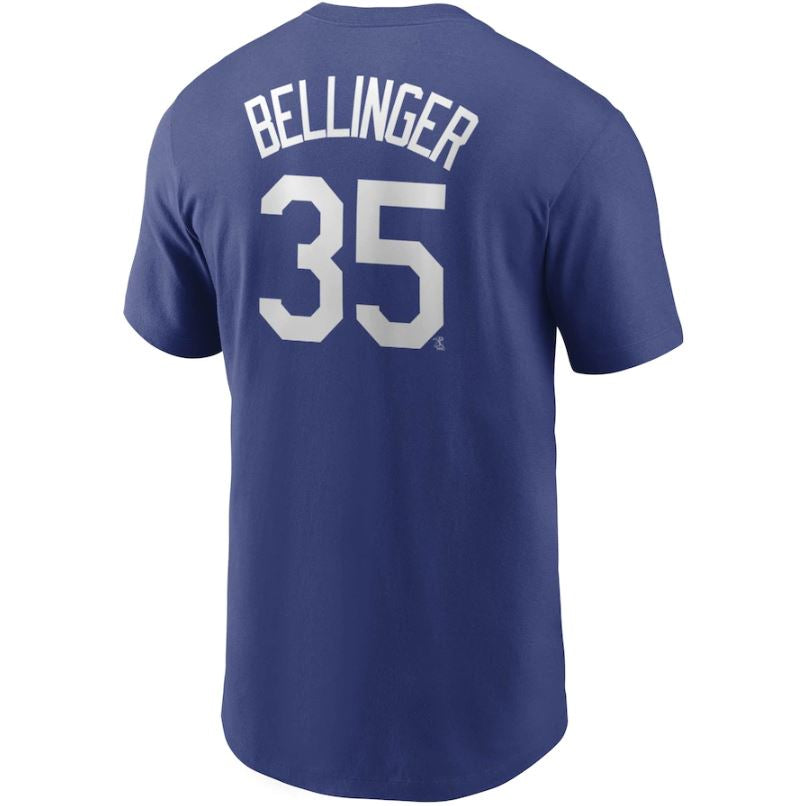 MLB Los Angeles Dodgers Cody Bellinger Nike Name & Number Tee - Blue