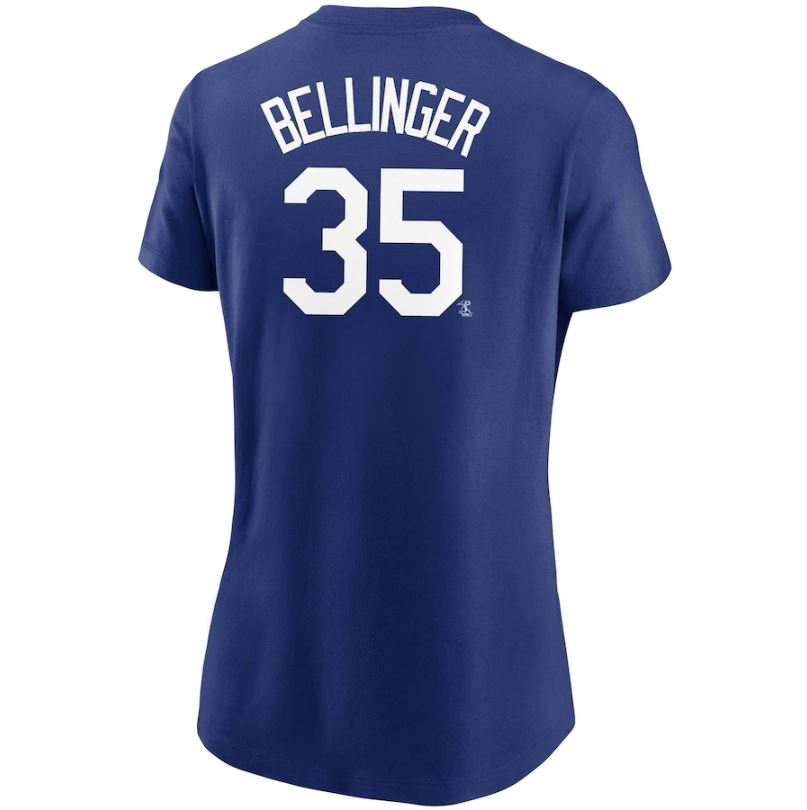 MLB Los Angeles Dodgers Cody Bellinger Women's Nike Name & Number Tee - Blue