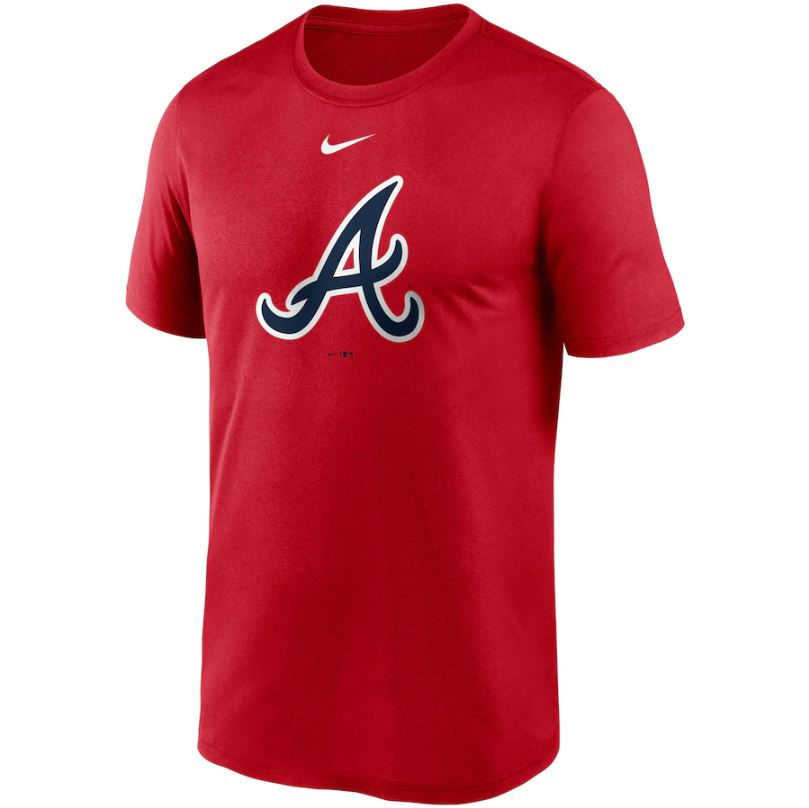 MLB Atlanta Braves Nike Large Logo Legend Tee - Red