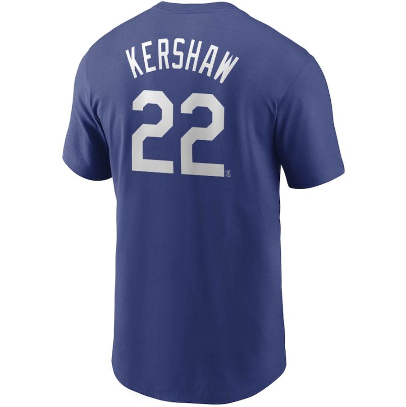 MLB Los Angeles Dodgers Clayton Kershaw Nike Name & Number Tee - Blue