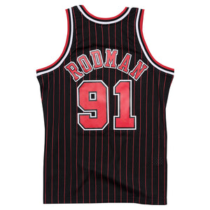 NBA Chicago Bulls Dennis Rodman Mitchell & Ness Retro Swingman Jersey - Black - Just Sports