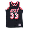 NBA Miami Heat Alonzo Mourning Mitchell & Ness Retro Swingman Jersey - Black - Just Sports