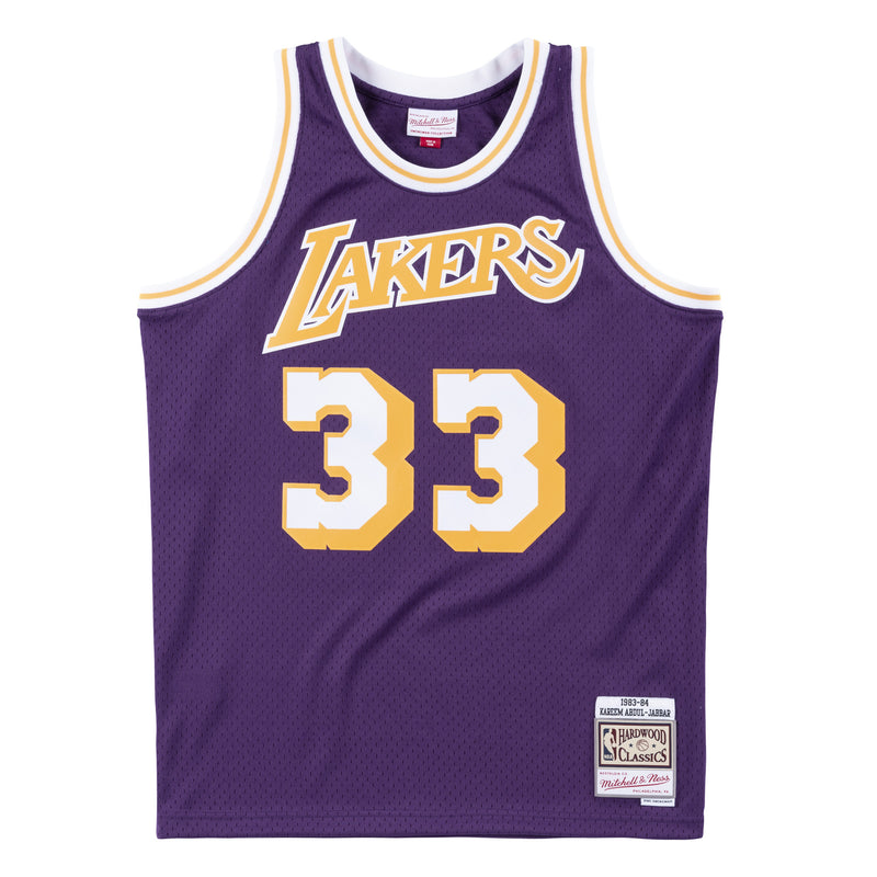 NBA Los Angeles Lakers Kareem Abdul-Jabbar Mitchell & Ness Retro Swingman Jersey- Purple