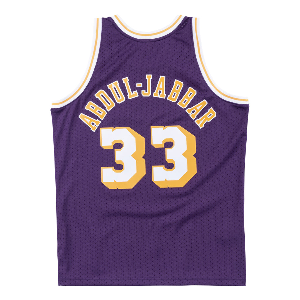 Los Angeles Lakers Kareem Abdul-Jabbar Mitchell & Ness Retro Swingman Jersey- Purple