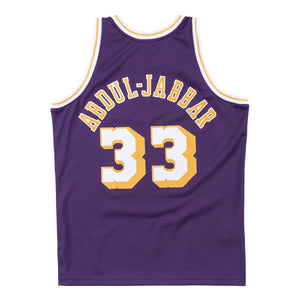 NBA Los Angeles Lakers Kareem Abdul-Jabbar Mitchell & Ness Retro Swingman Jersey- Purple - Just Sports
