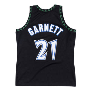 NBA Minnesota Timberwolves Kevin Garnett Mitchell & Ness Retro Swingman Jersey - Black - Just Sports