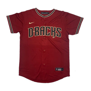 MLB Arizona Diamondbacks Youth Nike Official Alternate Replica Jersey - Red - Just Sports