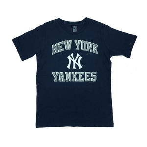 MLB New York Yankees Youth Outerstuff Power Basic Tee - Navy - Just Sports