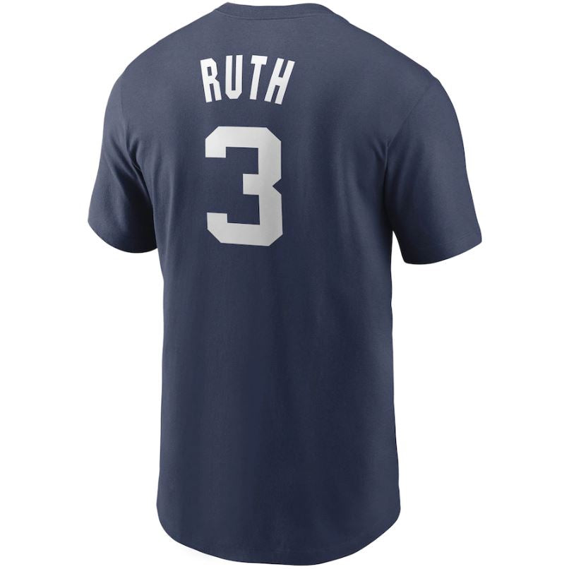MLB New York Yankees Babe Ruth Nike Cooperstown Name & Number Tee - Navy