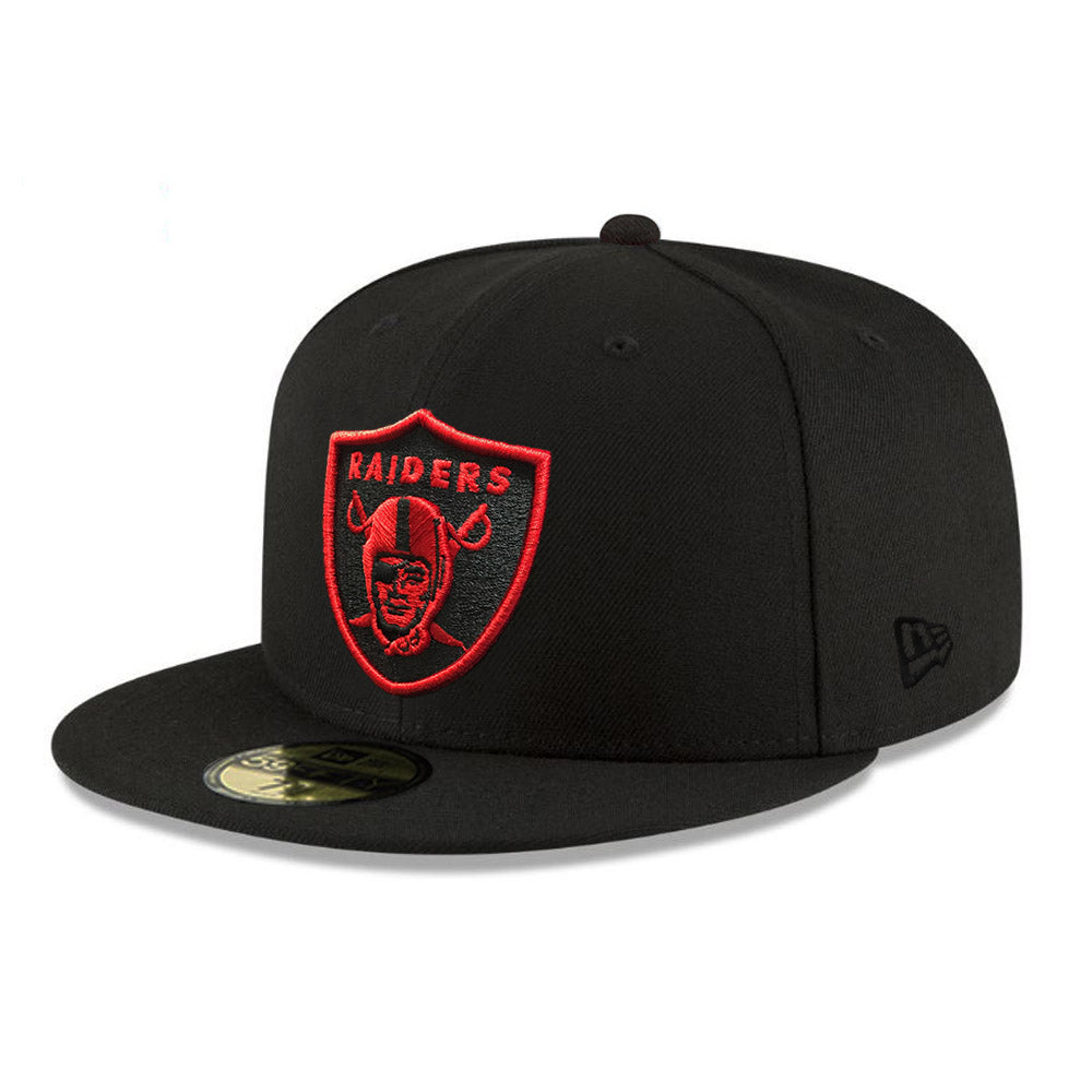 NFL Oakland Raiders New Era Red Logo 59FIFTY - Black