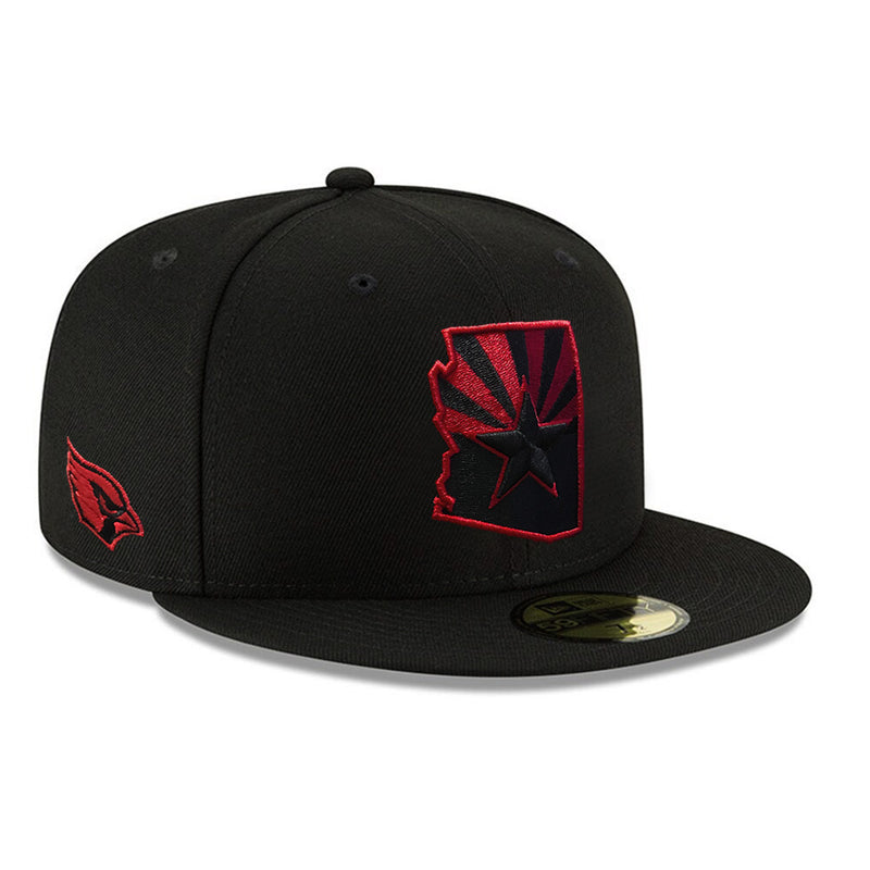 NFL Arizona Cardinals New Era State Flag 59FIFTY - Black