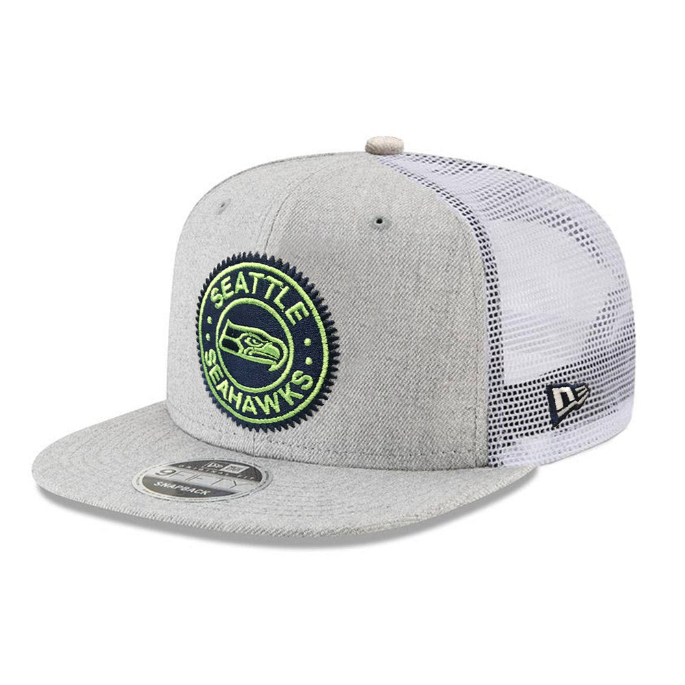 NFL Seattle Seahawks New Era Circle Patch Trucker 9FIFTY - Heather