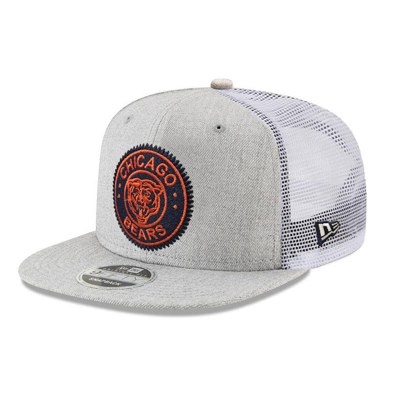 NFL Chicago Bears New Era Circle Patch Trucker 9FIFTY - Heather
