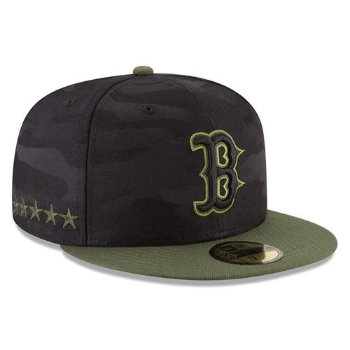MLB Boston Red Sox On Field 2018 Memorial Day New Era 59FIFTY - Black